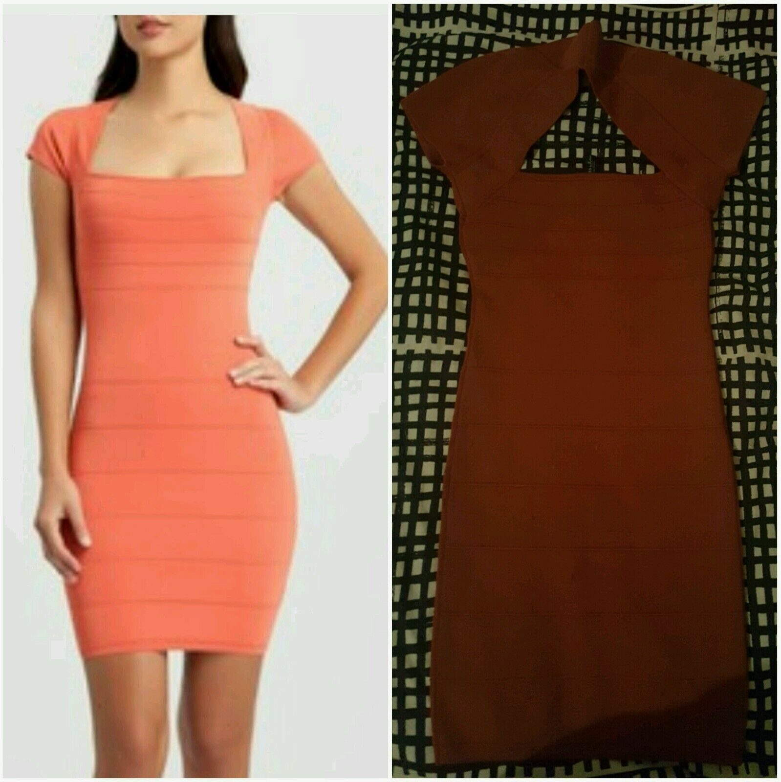 NWT GUESS BY MARCIANO RUST SHANE BANDAGE DRESS Größe S