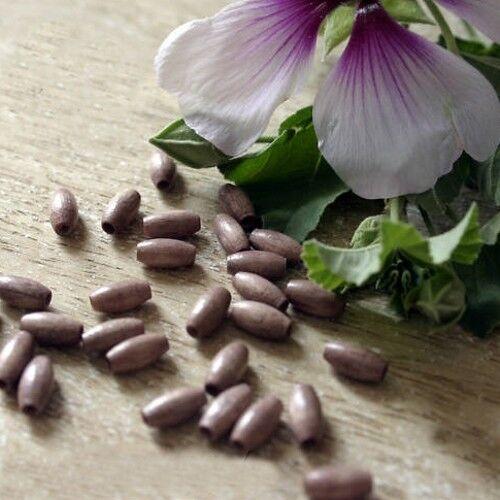 """Trou 1 mm 20 Perles Bois Ovales 4X8 mm /""""Vieux  Rose/"""""""