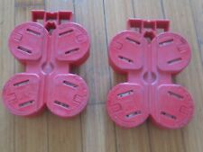 Lot Of 2 Gondola Skate Store Moving Systems Fixture Mobilization Red
