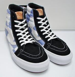 743dd2722578a7 VANS SK8-Hi Reissue CA (Glitch Check) Black Blue White Men s Size ...