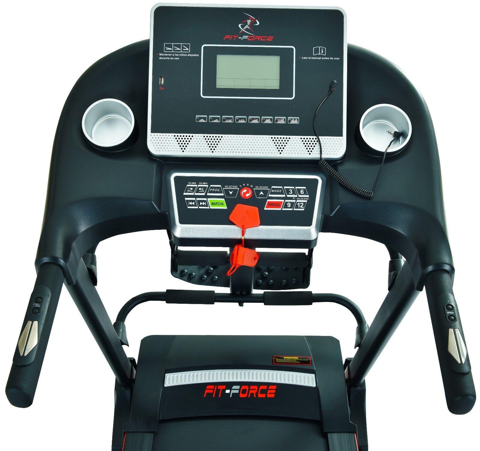 s l1600 - Cinta de correr plegable  2000W con masajeador,USB, dos altavoces  e inclinación