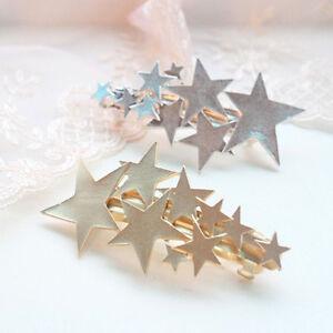 Fashion-Women-Gold-Silver-Star-Hair-Clip-Barrette-Hairpin-Bobby-Pin-Jewelry-Hot