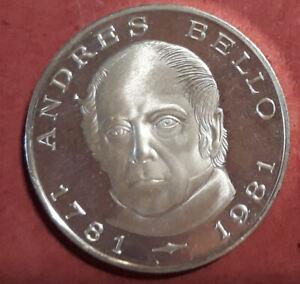 Venezuela-100-Bolivares-1981-Plata-Andres-Bello-PROOF