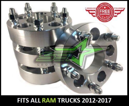 """5x5.5 Ram 1500 Wheel Spacers 2/"""" Inch5x139.7 2012-2018 5 lug14x1.5 Studs"""