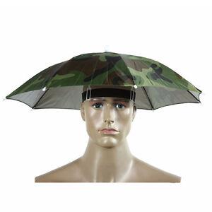 ec4a665bbe55e Camouflage Pattern Hat Cap Elastic Headband Sun Rain Umbrella Nylon ...