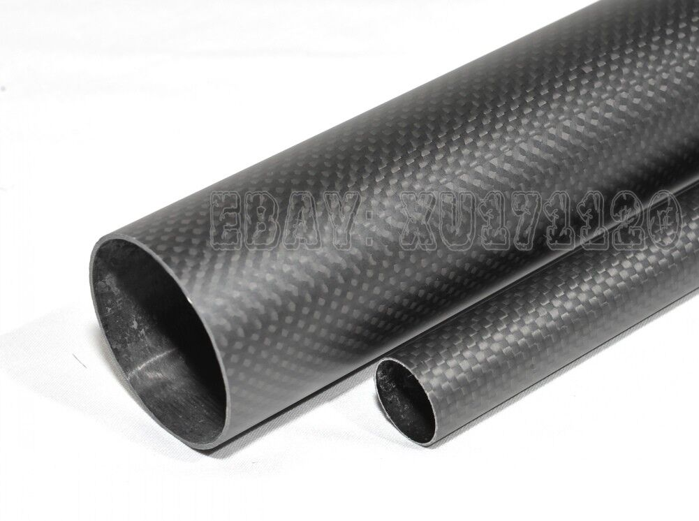 Rollo envuelto tubo de fibra de Cochebono 3K 90mm86mm1000mm Tubo 9086 Mate De Mejor Calidad