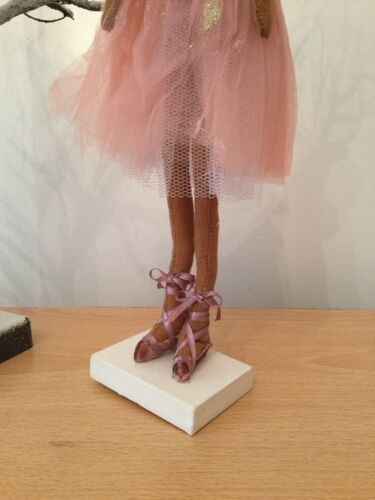 39x20x18cm Gisela Graham Fabric Ballerina Reindeer Ornament