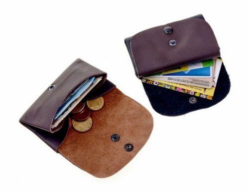 Portmonnaie Geldbörse aus Leder mit 2 Fächern für Kreditkarten oder Kleingeld