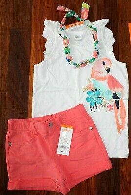 NWT Gymboree Sunny Safari Peach Ruffle Tank Top Cute Coral Girls 6 /& 8