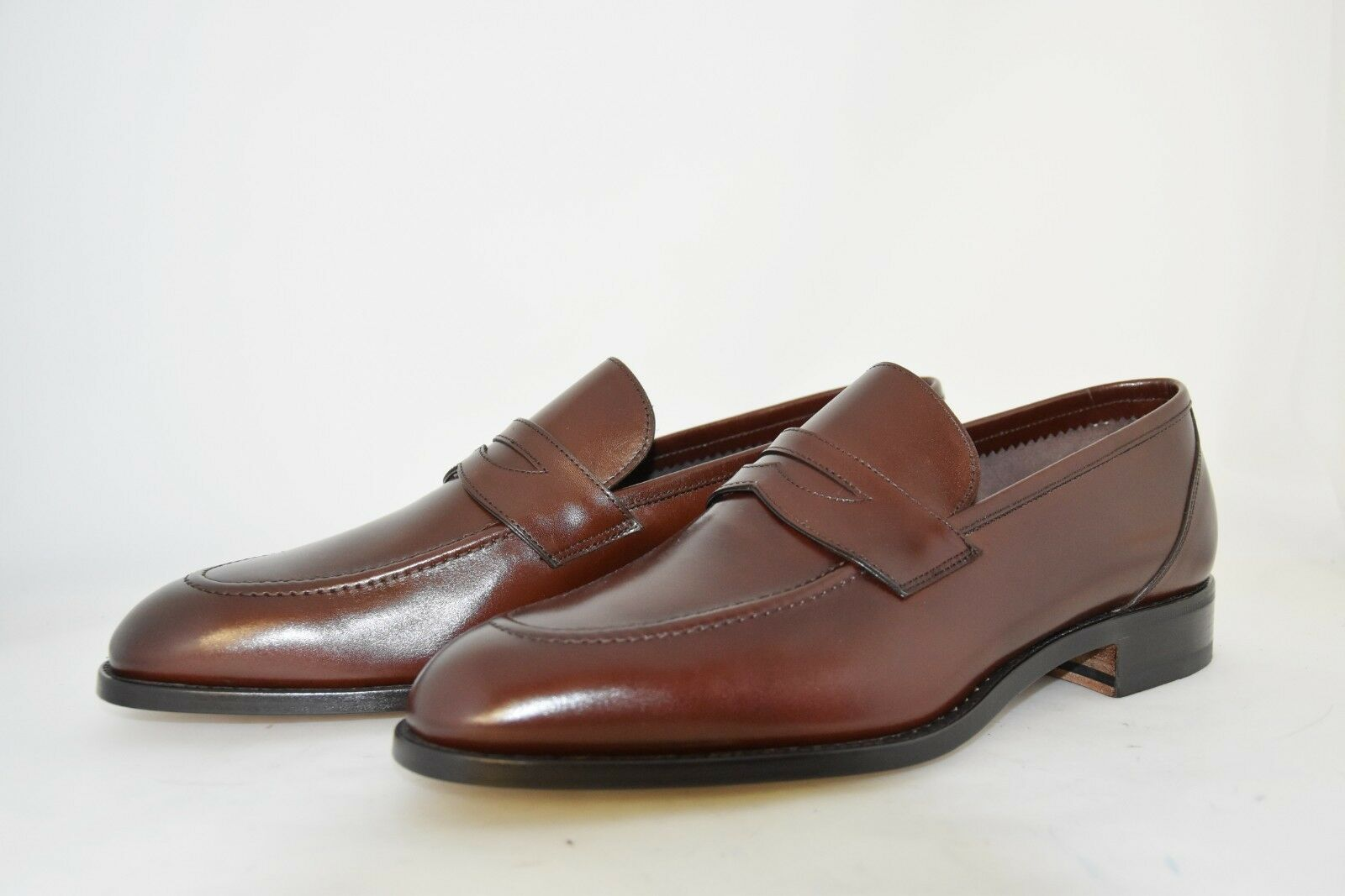 MAN-10eu-11us-PENNY LOAFER-MOCASSINO-Marroneee CALF-VITELLO MarroneeeE-LEATHER SOLE