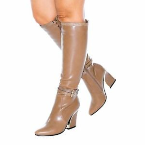 Ladies Womens Knee High Winter Long Boots Mid Low Chunky Block Heel Shose Size 3