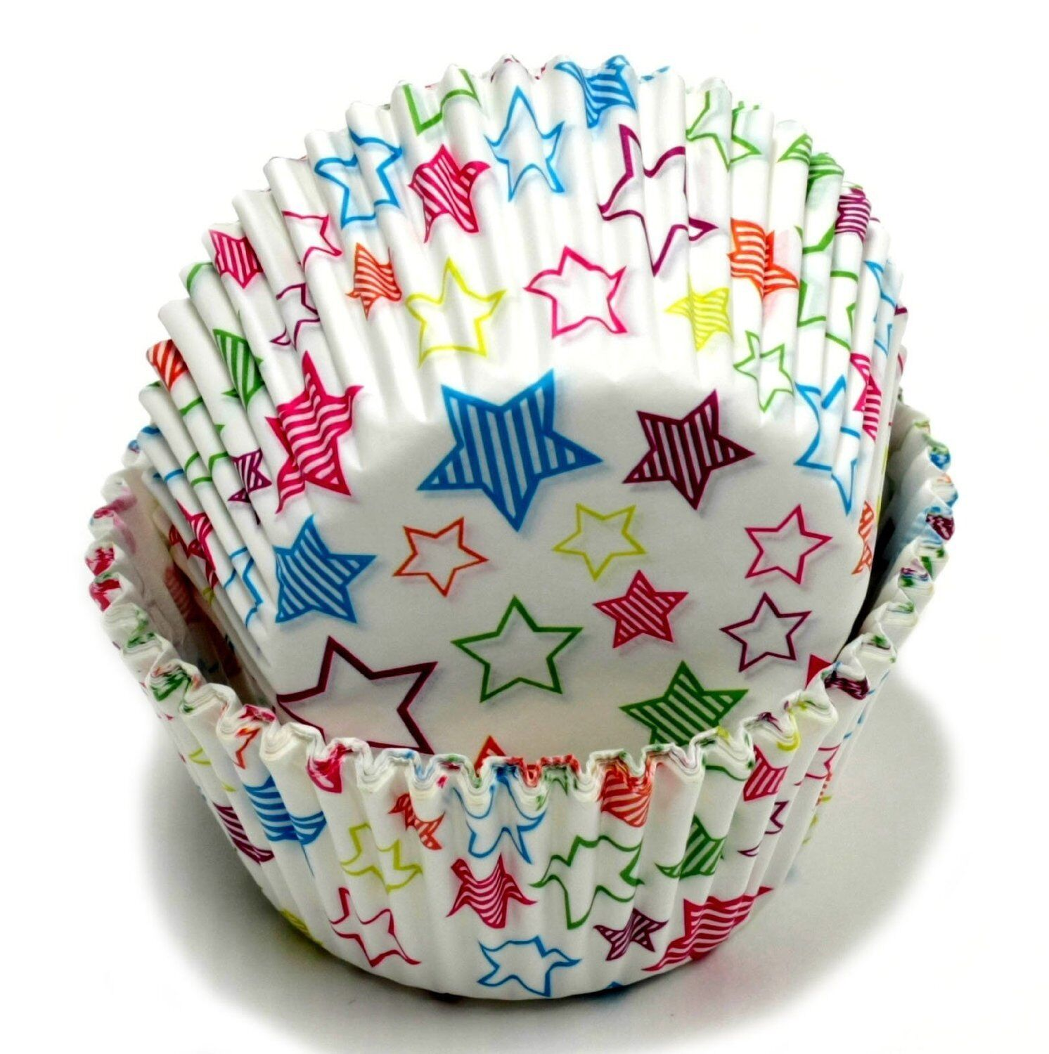 Chef Craft Christmas Santa Hats Standard Cupcake Liners 50 Pack Off-White