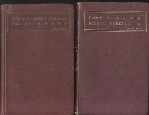 POESIE-e-PROSE-DI-GIOSUE-CARDUCCI-2-volumi-1859-1903-Zanichelli