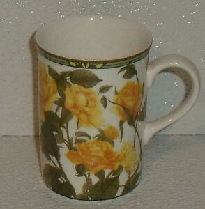 Royal-Canterbury-Tazza-Coppa-Giallo-Rose-Osso-Cina-10-2cm