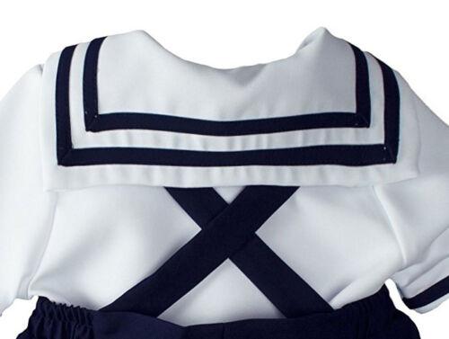 Sailor Short Set Boys Navy White Nautical Outfit Set Infant 3-12M Toddlers 2T-4T