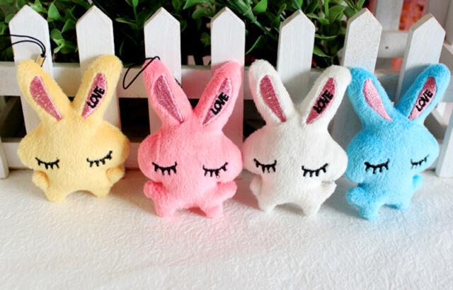 Kids Baby Plush Toy Cartoon Rabbit Embrace Heart Bowkot Stuffed Toys Gift WG