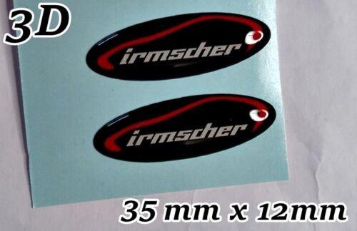 2x Irmscher 3D Sticker Badge for steering wheel