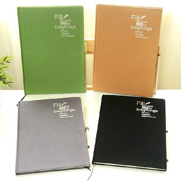 """""""Deep Breath"""" 1pc Big Notebook Sketchbook Blank Papers Drawing Art Diary Planner"""