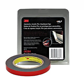 """3m 06384 1/2""""x 15' Double Side Tape Grey 45 Mil (3m-6384)"""