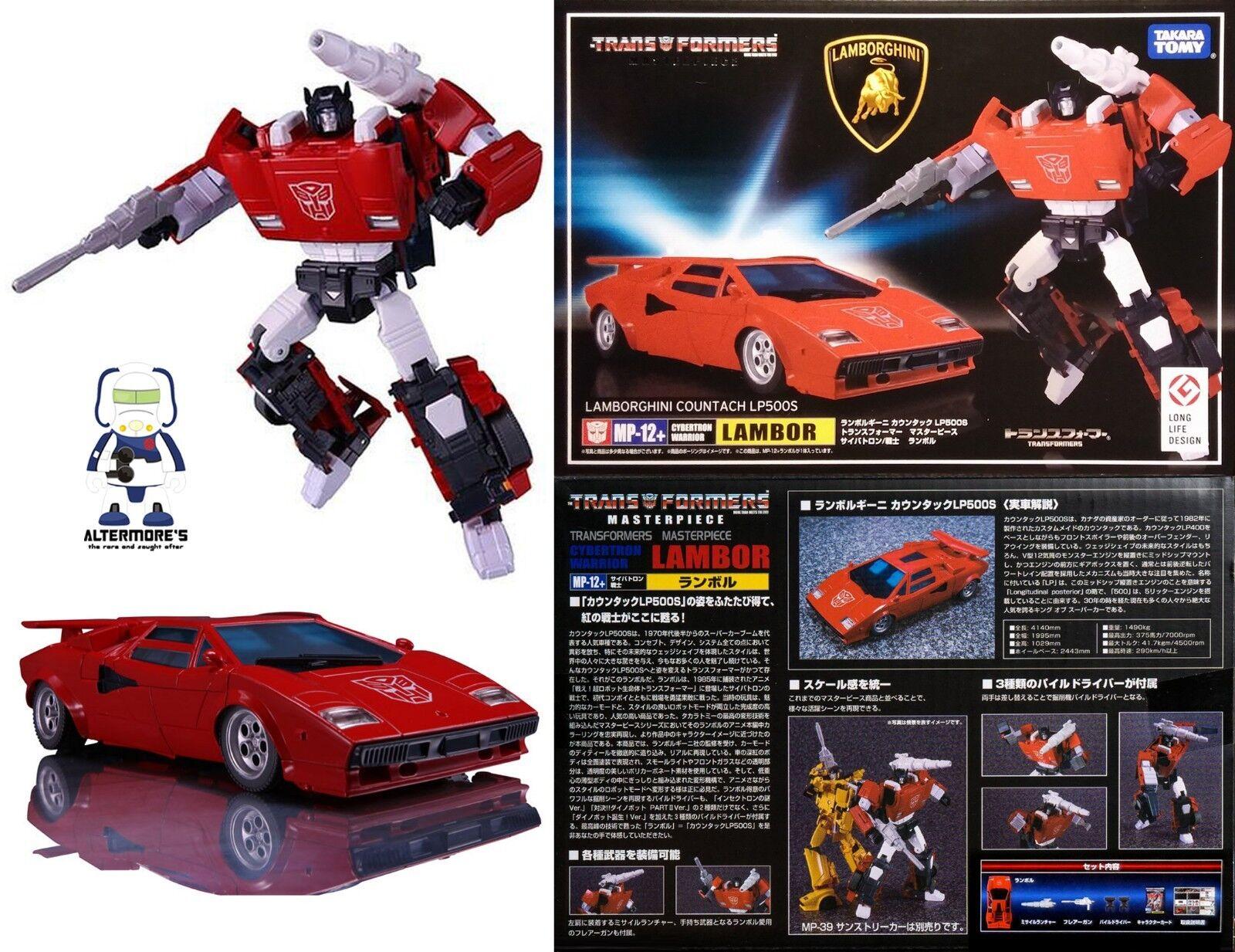 Transformers Takara Masterpiece MP-12+ Lambor   Sideswipe anime ver MISB