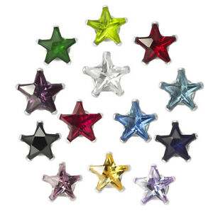 New-925-Sterling-Silver-Cubic-Zirconia-Prong-Set-Star-CZ-Stud-Earrings