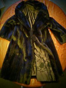 Lovely-Bullock-039-s-Real-Fur-Mink-Ranch-Brown-Coat-full-length