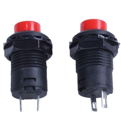 10 x Momentané SPST NO Red Round Cap Bouton poussoir Commutateur AC 250V//1.5A 125V//3 E1N7