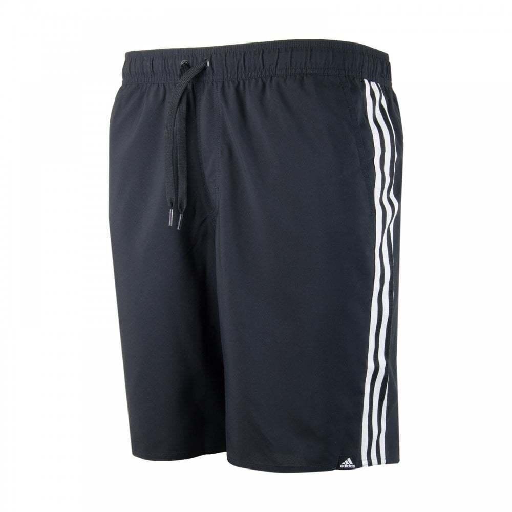Adidas Mens 3 - Streifen-Badeshorts (Schwarz)