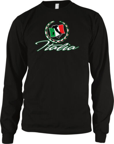 Italia Italian Crest Country European Pride Green White Red Long Sleeve Thermal