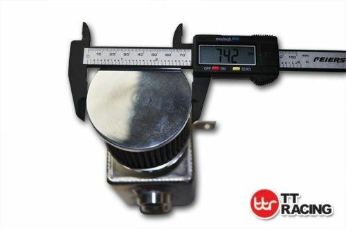 Black Aluminium Oil Breather Catch Can Tank Kit 2L AN10 Nylon hose