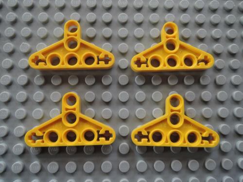 Lego 4 x Technic Liftarm flach Triangel 2905   gelb