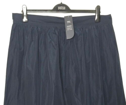 s Pull M Bnwt Blue Curve Segni Skirt Look Ladies Luxe S20 Full Taffeta On Midi d1RA1wqz