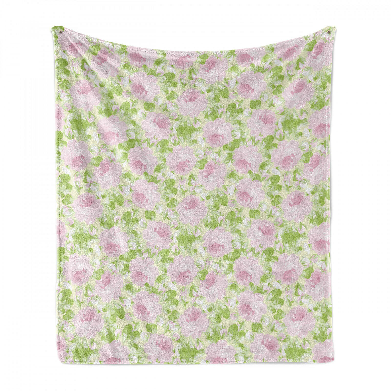 Shabby Flora Weich Flanell Fleece Decke Frühlings-Yard-Pastell