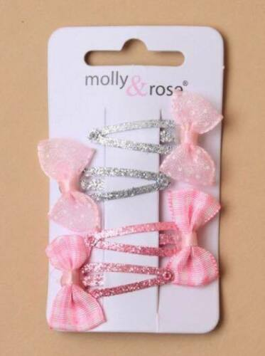 Girls Glitter Bow Sleepie Hairclips Accessories Hair clip Gift Kids
