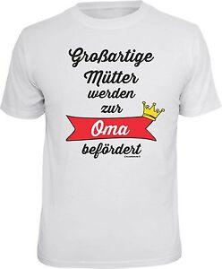 T Shirt Werdende Oma Geschenk Lustiges Spruche Grossmutter Geburt Oma