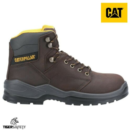 MENS Caterpillar CAT WIDE STEEL TOE CAP SAFETY WORK SHOES TRAINER BOOTS SIZE 13