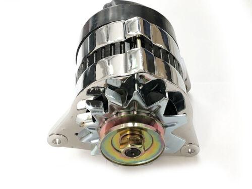 Chrome 18ACR lucas type haute sortie 65 amp alternateur poulie /& fan classic mini