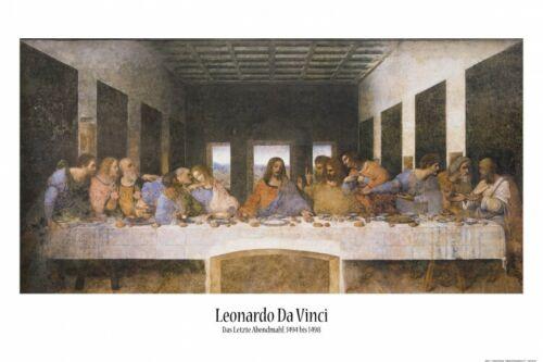 Leonardo Da Vinci Das Letzte Abendmahl Poster Plakat #88367 91x61cm