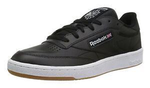 9a9cefe83f910e Image is loading Reebok-Classic-Club-C-85-Black-White-Gum-