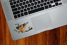 "CLR:TP - Oriole Bird - Stained Glass Vinyl Trackpad Decal ©YYDC (3.75""w x"