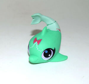 Littlest Pet Shop Animal Green Dolphin 3060 Doll Loose Figure