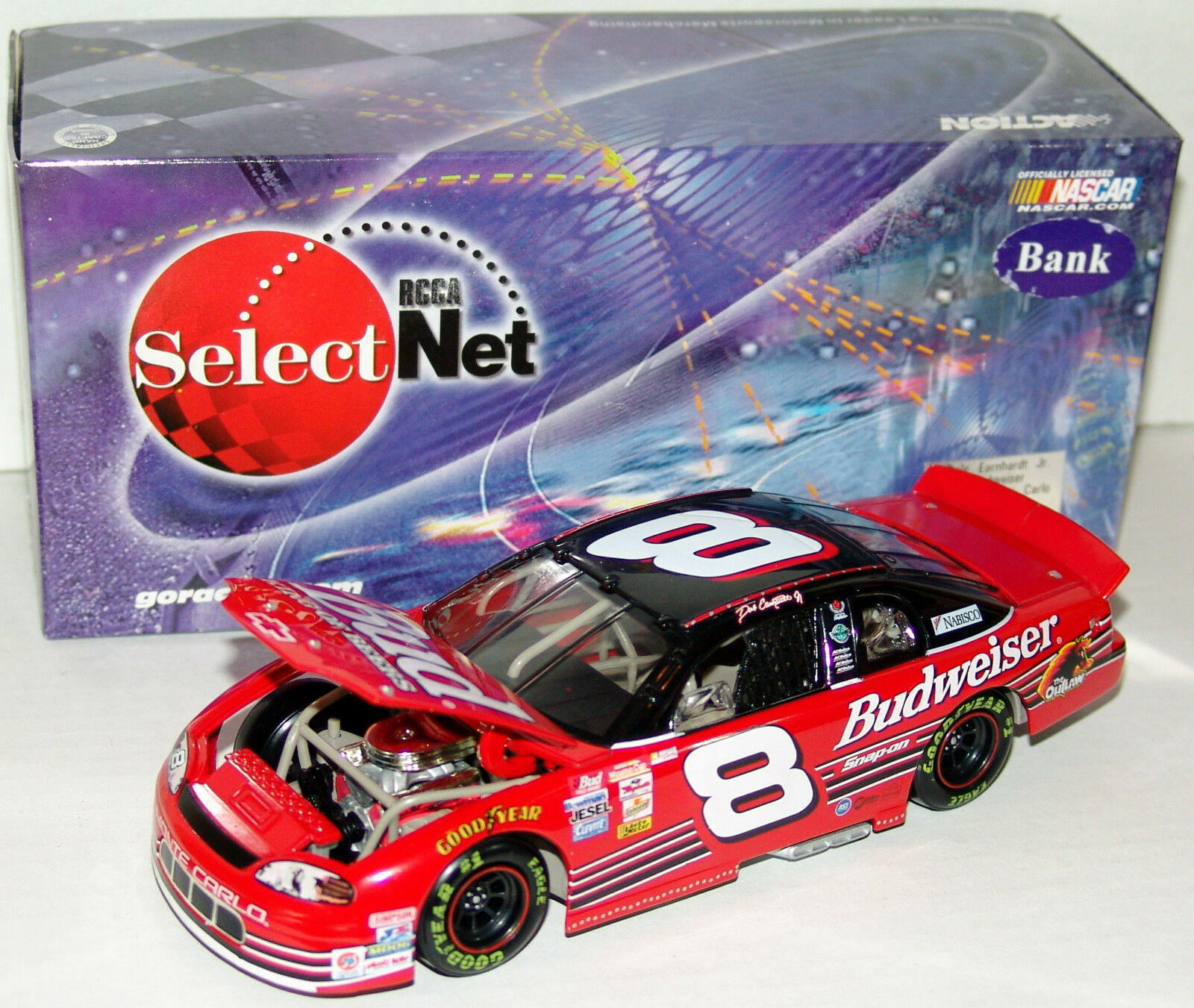 99 Dale Earnhardt Jr Budweiser Chevy Action RCCA 1 24 Limited Edition Bank
