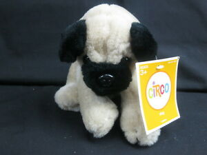 black pug stuffed animal new circo tan black pug puppy dog big brown eyes plush 9817