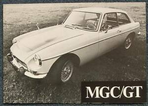 Details about MG MGC GT USA Market Car Sales Brochure Sept 1968  #CGTI-30M-9/68