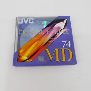 Brand-New-Sealed-Recordable-MiniDisc-MD-74-JVC-Crystal-Purple