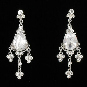 2-6-034-Floral-Chandelier-Earrings-Bridal-Wedding-Party-Jewelry-Crystals-Clear-653