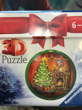 Christmas 3-D Tree Ornaments Ravensburger Puzzle New! Tree /& Fireplace