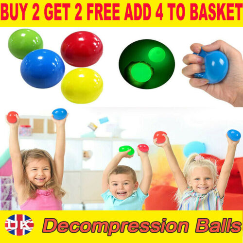 NEW Sticky Ball Sticky Balls for Ceiling Stress Relief Globbles Stress Kid Toy