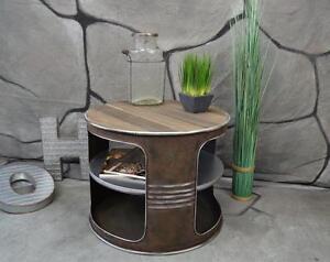 Couchtisch-Beistelltisch-Metall-Olfass-Vintage-Industrie-Look-LOFT-Shabby-LV5022