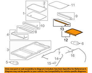 Enjoyable Gm Oem Sunroof Glass Frame 20847267 Ebay Wiring Cloud Hisonuggs Outletorg
